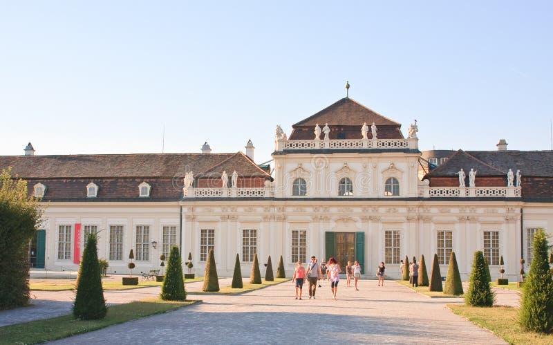 Abaissez le palais de belvédère vienne l'autriche photos stock