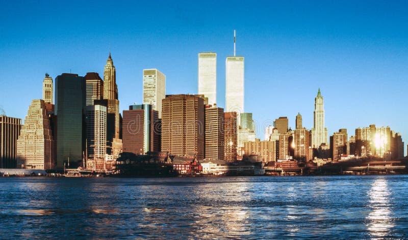 Abaissez mahattan et le World Trade Center photo stock