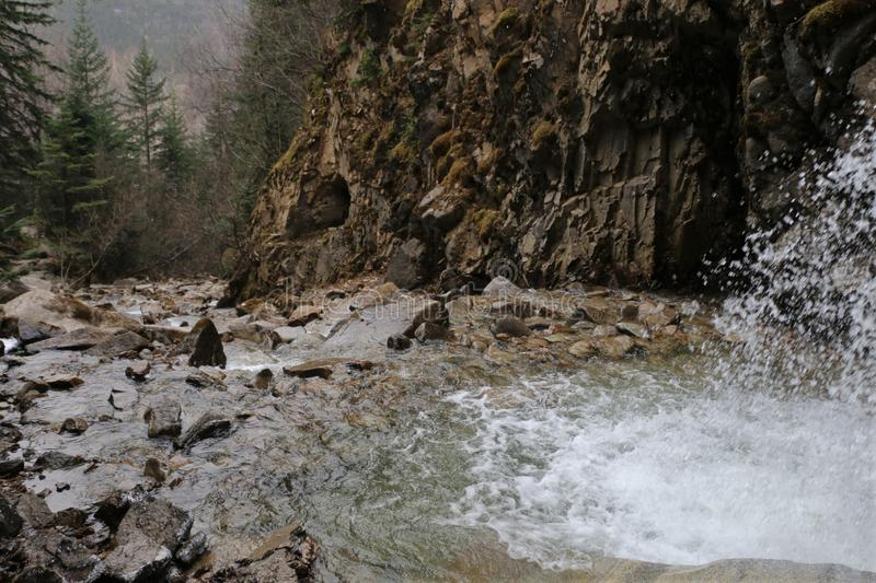 Abaissez Reid Falls dans Skagway, Alaska photo stock