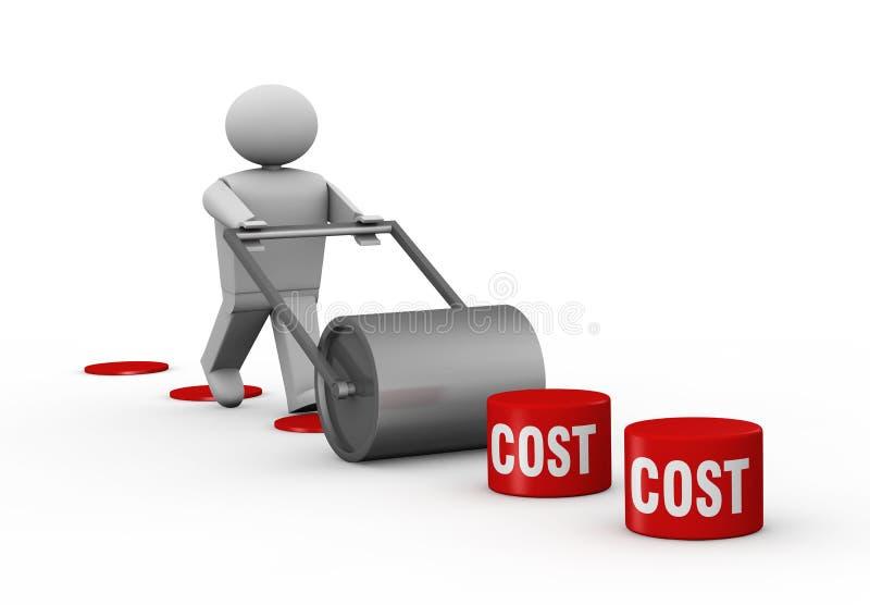 Abaixando custos ilustração stock