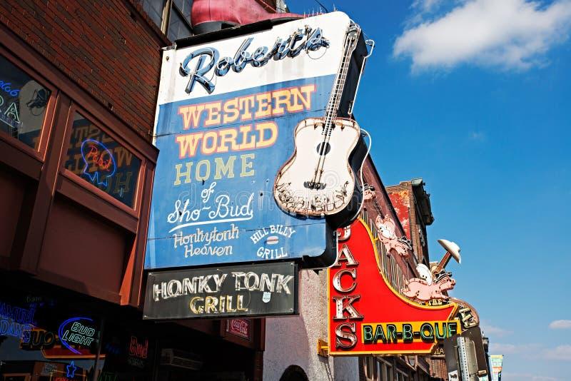 Abaixe Broadway, Nashville fotografia de stock