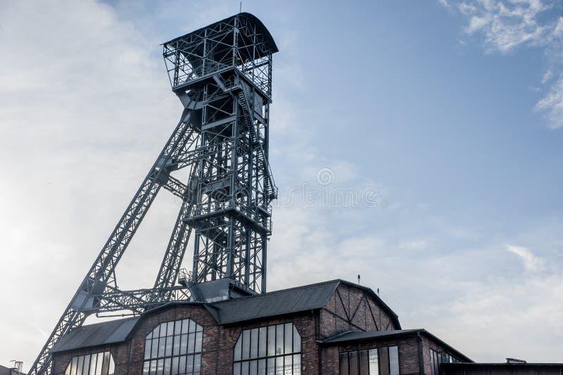 Abaixe a fábrica de aço de Vitkovice em Ostrava, República Checa fotos de stock royalty free