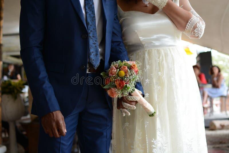 Abaixe a seção do evento do casamento imagem de stock