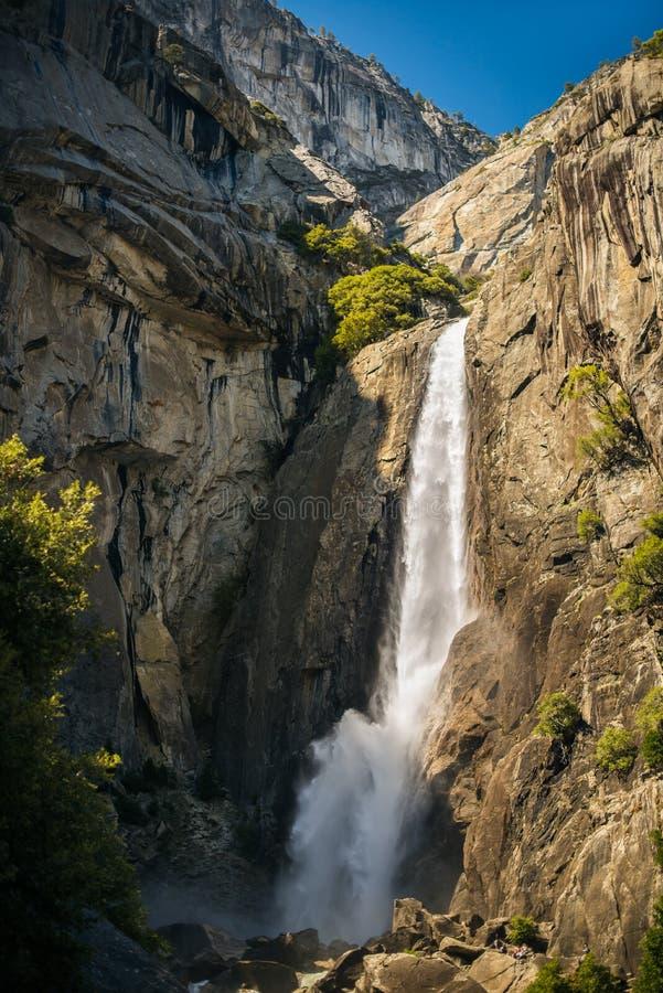 Abaixe Yosemite Falls imagens de stock