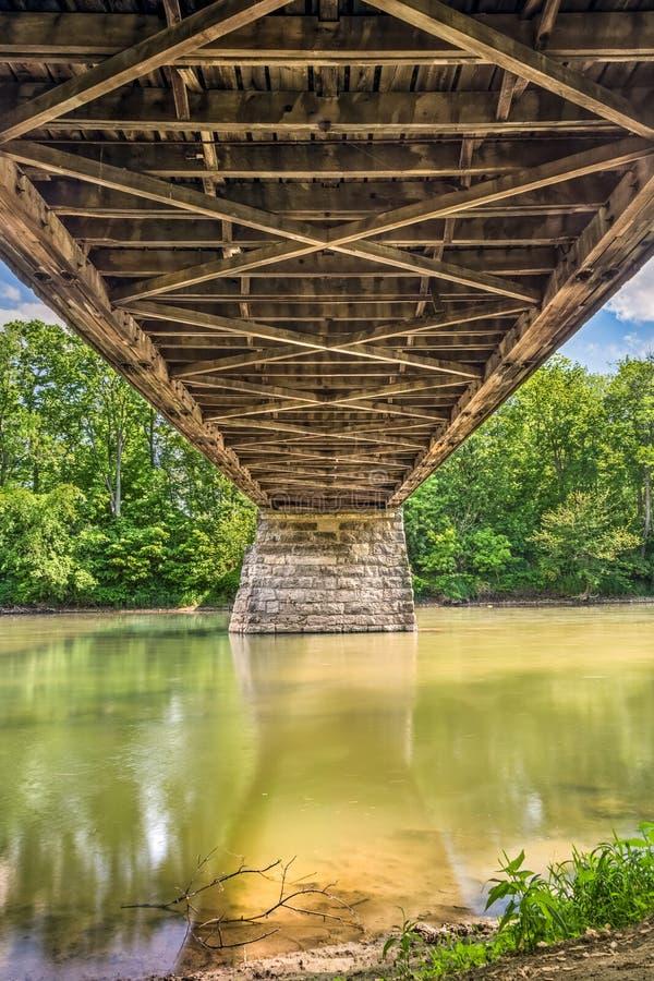 Abaixo dos oleiro cobertos ponte imagens de stock