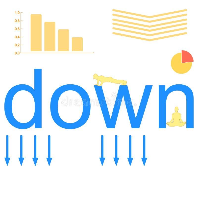 Abajo del icono del vector de la flecha aislado en fondo transparente, abajo del logotipo de la transparencia de la flecha stock de ilustración