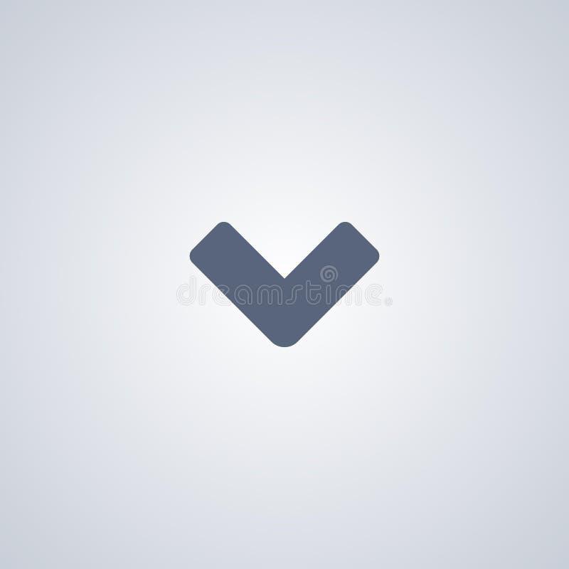 Abajo el icono, vector el mejor icono plano libre illustration