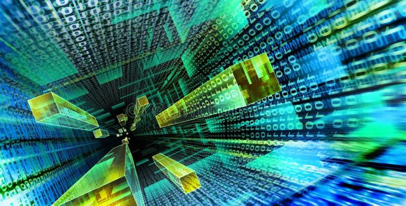 Abajo en el Cyberspace 01 ilustración del vector