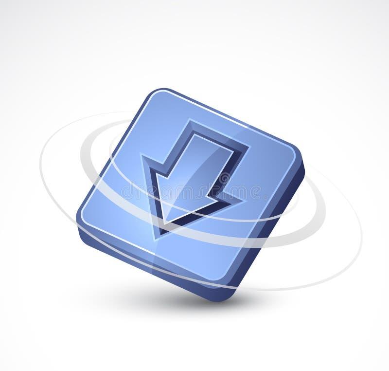 Abajo icono de la flecha ilustración del vector