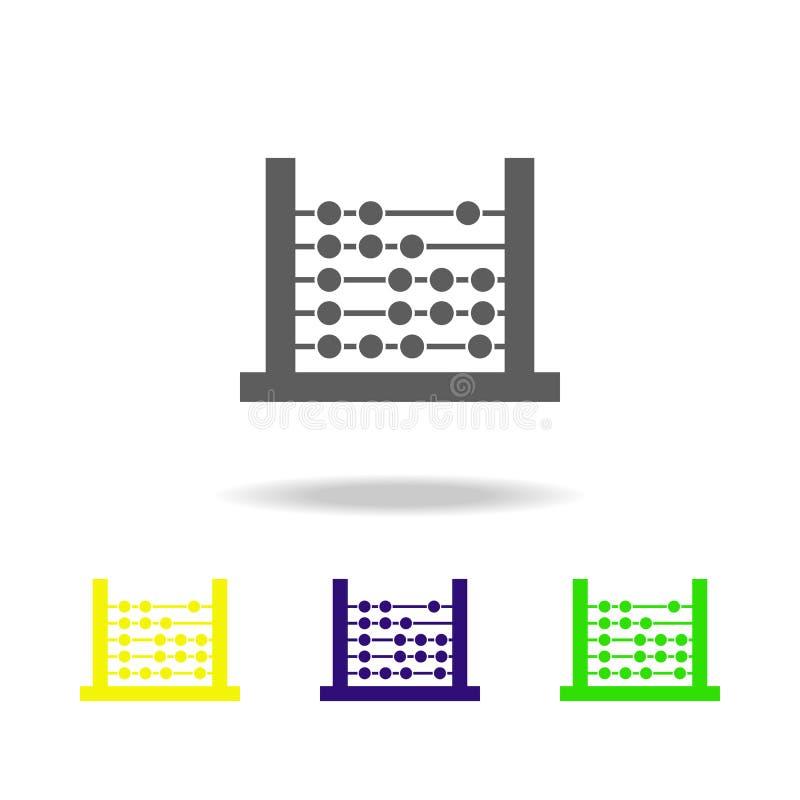 Abakus färbte Ikonen Element von Spielwaren Kann für Netz, Logo, mobiler App, UI, UX verwendet werden lizenzfreie abbildung