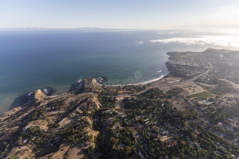 Abalone zatoczka Powietrzny Rancho Palos Verdes Kalifornia obrazy stock
