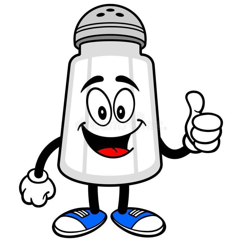 Abanador de sal com polegares acima ilustração royalty free