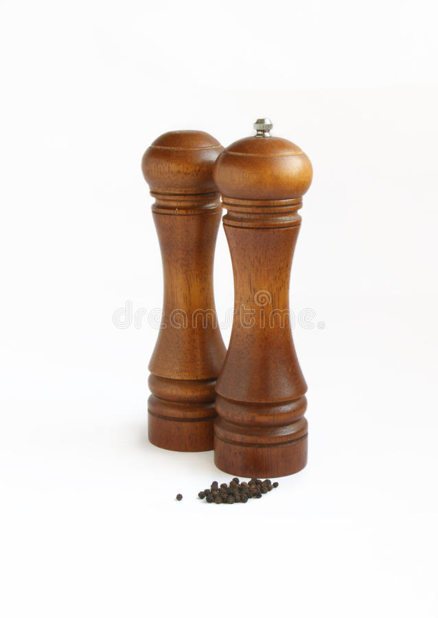 Download Abanador De Sal, Moedor De Pimenta E Peppercorn Foto de Stock - Imagem de wooden, peppercorn: 12806500