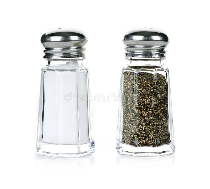 Abanadores de sal e de pimenta fotografia de stock royalty free
