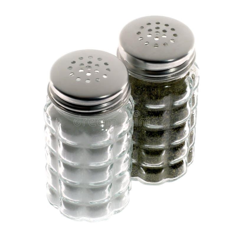 Abanadores de sal e de pimenta imagem de stock royalty free