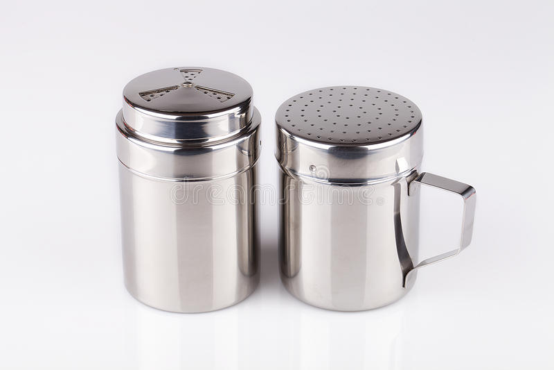 Abanadores de sal e de pimenta fotografia de stock