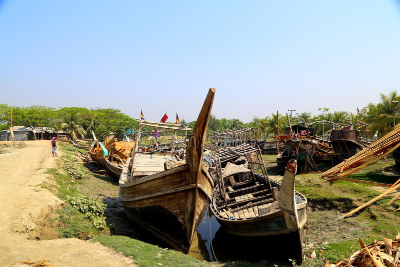 Abandon Boat royalty free stock photography