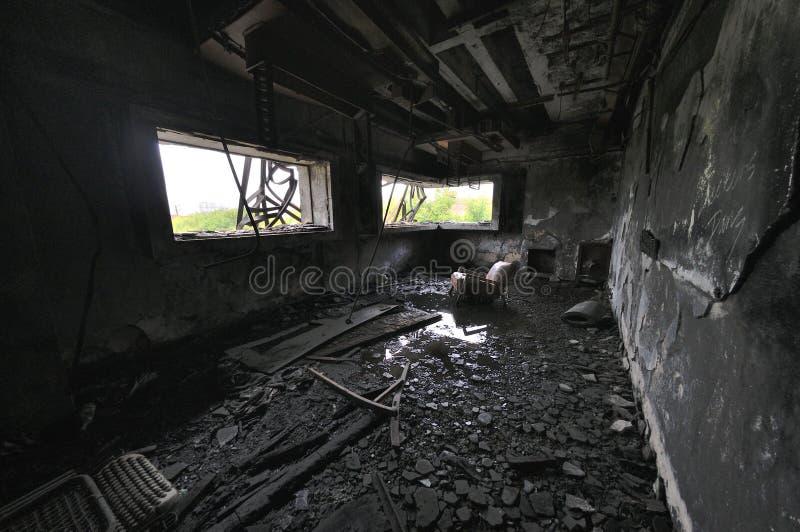 Abandon house. Ruins architecture fallen abandon house royalty free stock image