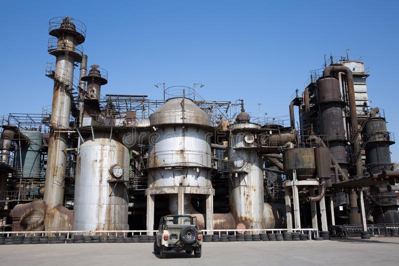 Abandon steel factory. In Beijing royalty free stock image