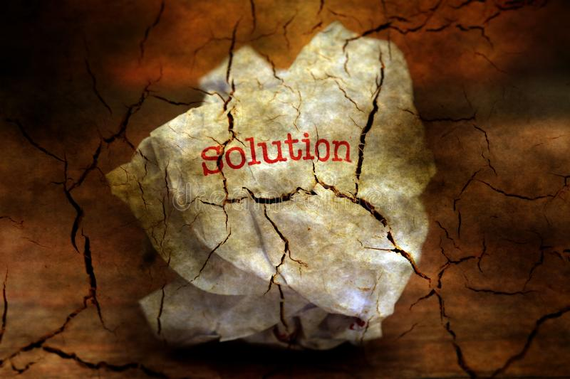 Abandon solution grunge concept. Close up of Abandon solution grunge concept stock image