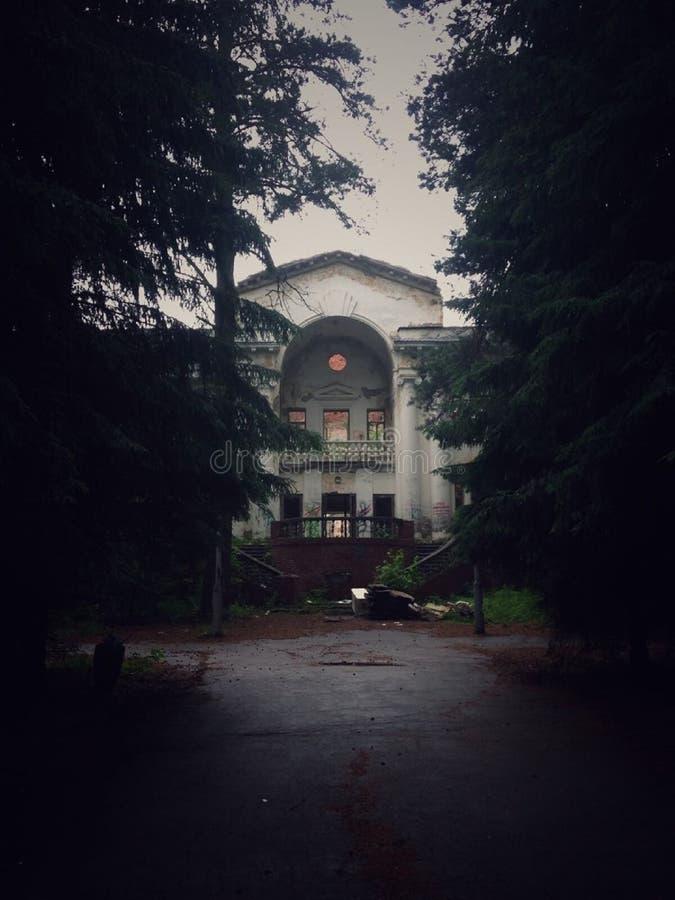 ` Abandonado de Rechkunovka del ` del sanatorio novosibirsk foto de archivo