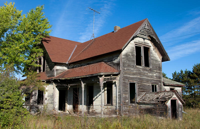 Abandonado para casa fotografia de stock