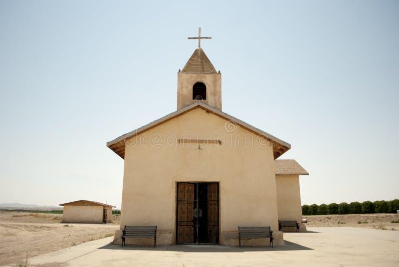 Abandonado uma igreja da sala imagens de stock royalty free