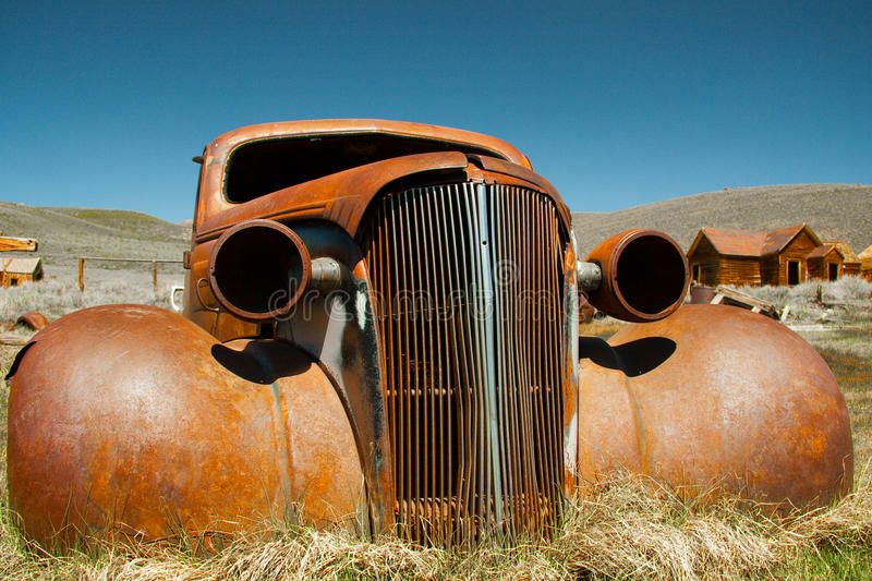 Download Abandoned Shell Of American Car Stock Photo - Image: 18650418