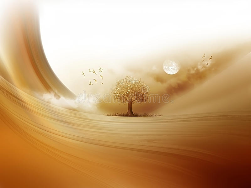 Abandone el árbol ilustración del vector