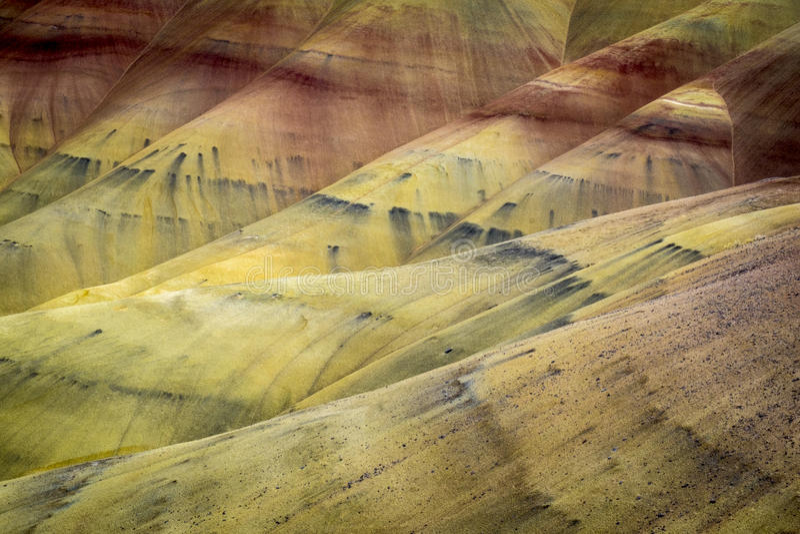 Abandone formas e cores, montes pintados, Oregon fotografia de stock