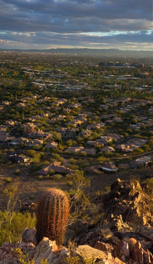 Abandone la vida en Phoenix, Az, los E.E.U.U. Vista de Pheonix imágenes de archivo libres de regalías