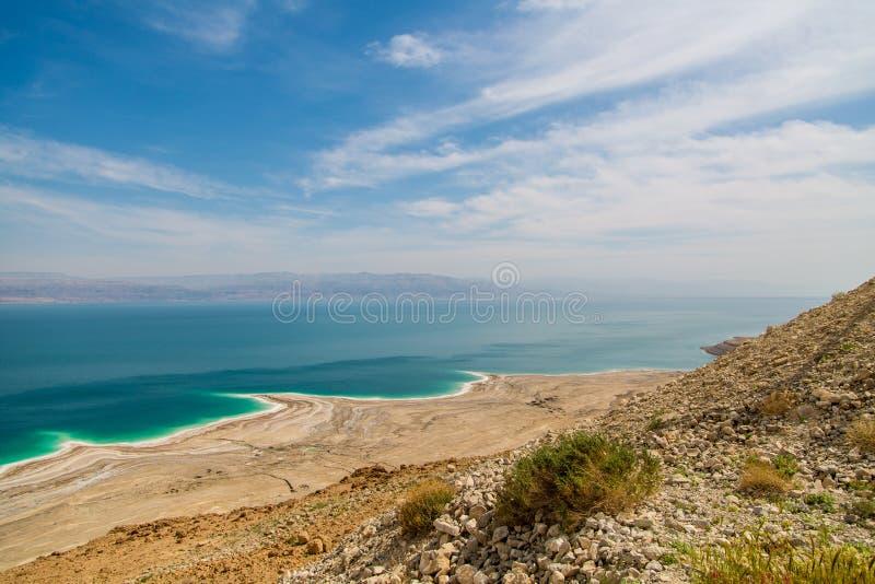 Abandone a paisagem de Israel, Mar Morto, Jordânia imagem de stock royalty free