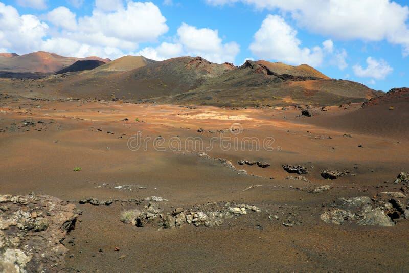 Abandone a paisagem vulcânica de pedra árida em Lanzarote, Ilhas Canárias imagem de stock