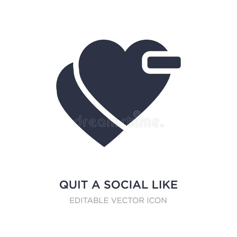 abandone un social como icono en el fondo blanco Ejemplo simple del elemento del concepto de comercialización de los medios socia stock de ilustración