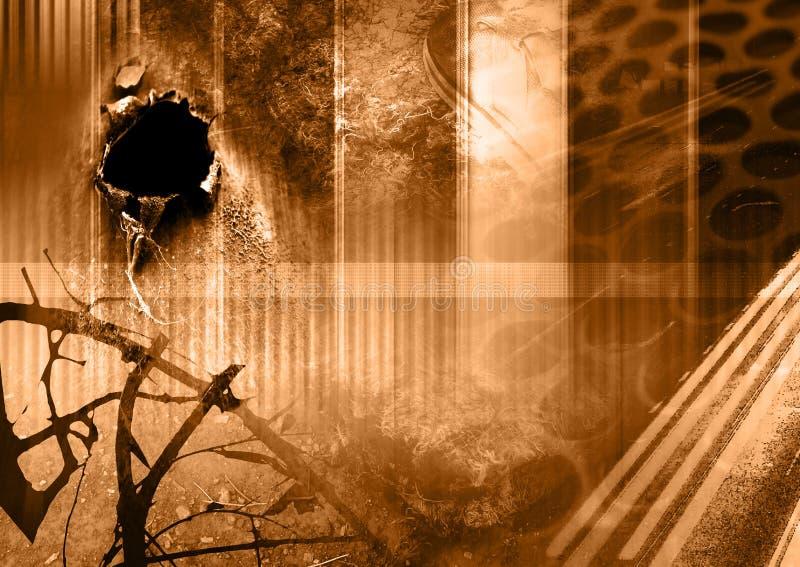 Abandoned vector illustration