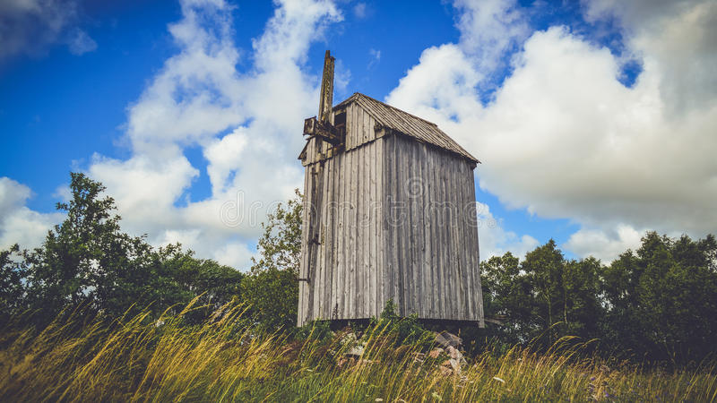 Abandoned agricultural barn royalty free stock photo