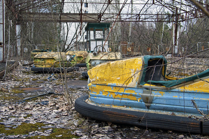 Abandoned amusement park royalty free stock photography