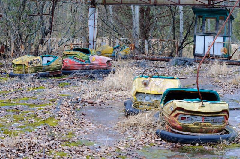 Abandoned amusement park in Pripyat, Chernobyl royalty free stock photo