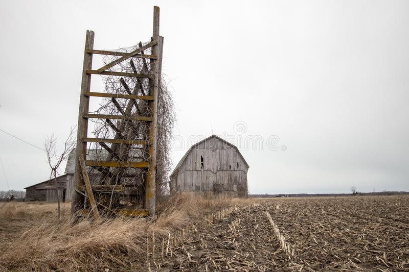 Abandoned Barn In The American Midwest royalty free stock images