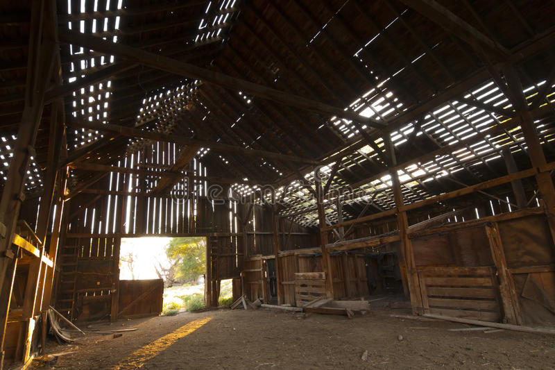 Abandoned Barn Inside royalty free stock image