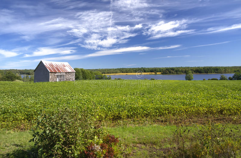 Abandoned barn, New Brunswick, Canada stock image