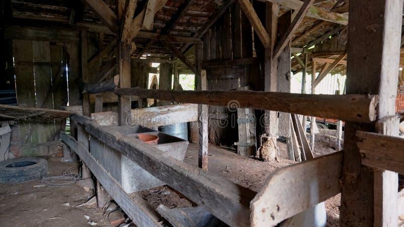 Abandoned barn trough stock photography