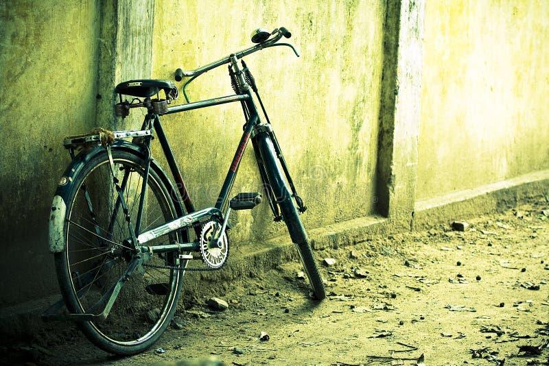 Abandoned bicycle royalty free stock photo