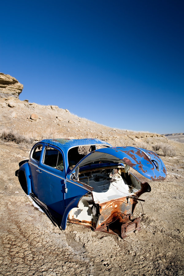 Download Abandoned blue car stock image. Image of neglect, automobile - 2029337