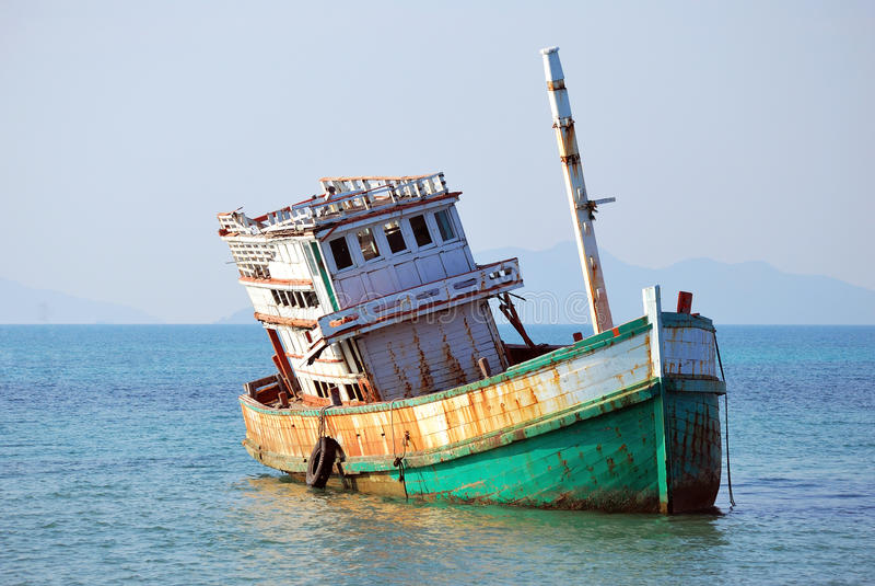 Download Abandoned Boat At Koh Mak Stock Photos - Image: 19202643