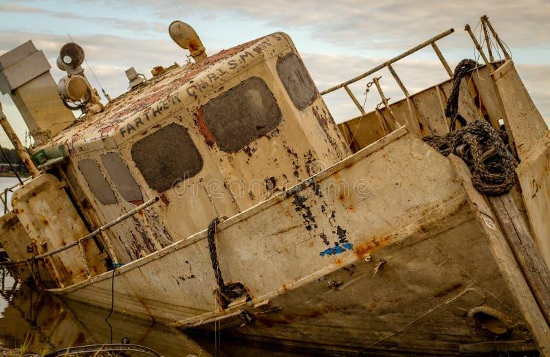 Abandoned boat royalty free stock photography
