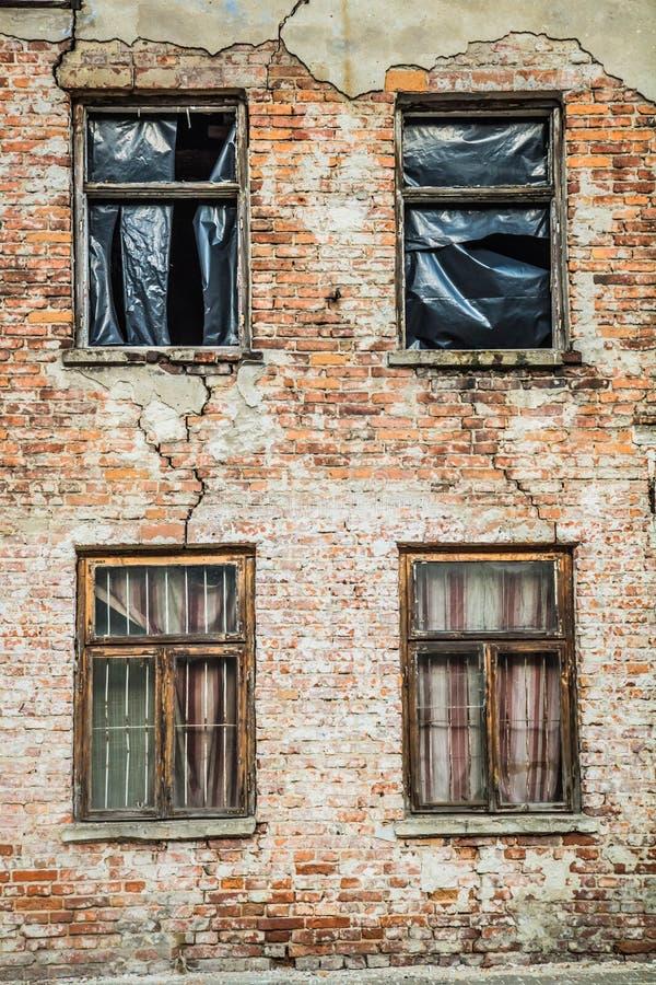 Abandoned brick building royalty free stock photography