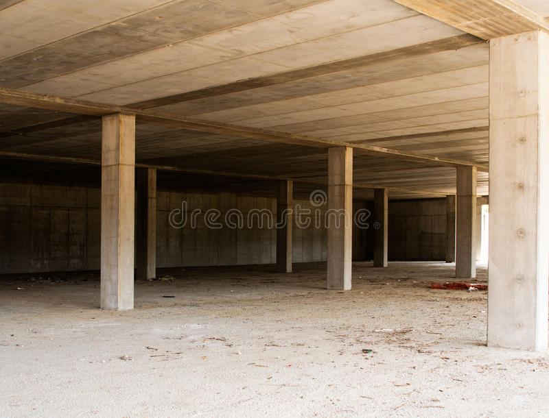 Abandoned buidling site - economic downturn symbol, metaphor royalty free stock photos