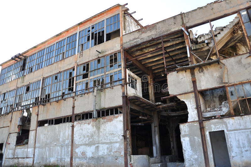 Download Abandoned building stock photo. Image of demolition, grunge - 22956044