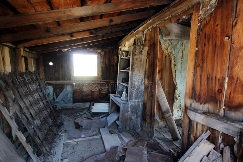 Abandoned Building Interior with Junk royalty free stock photos